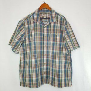 Duluth Trading Co Mens XL Short Sleeve Button Down